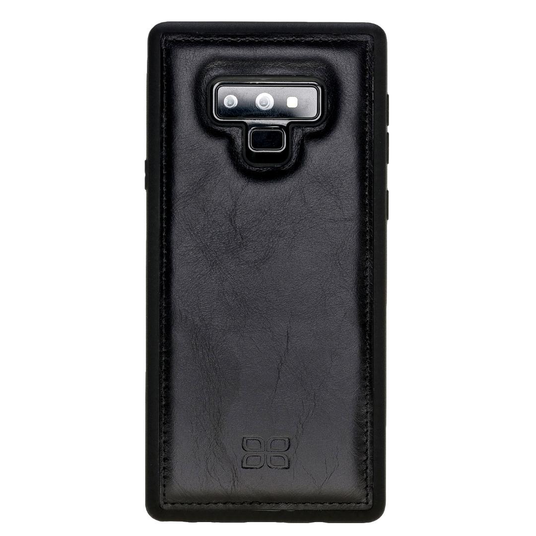 Husa slim piele naturala + rama TPU moale, back cover, Samsung Galaxy Note 9 - Bouletta, Rustic black