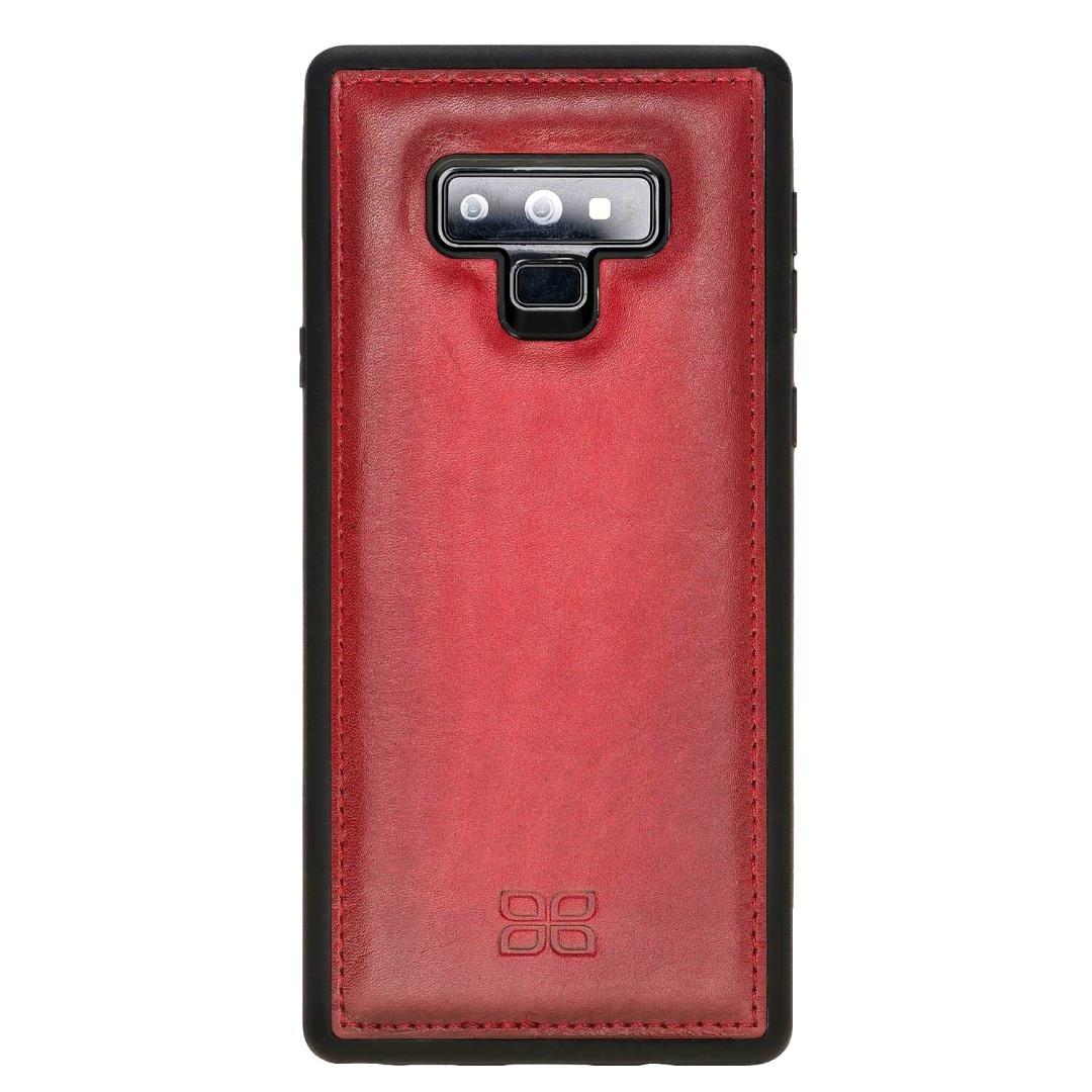 Husa slim piele naturala + rama TPU moale, back cover, Samsung Galaxy Note 9 - Bouletta, Burnished red