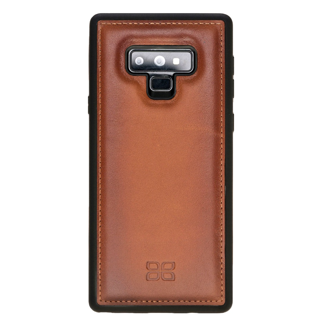 Husa slim piele naturala + rama TPU moale, back cover, Samsung Galaxy Note 9 - Bouletta, Burnished tan