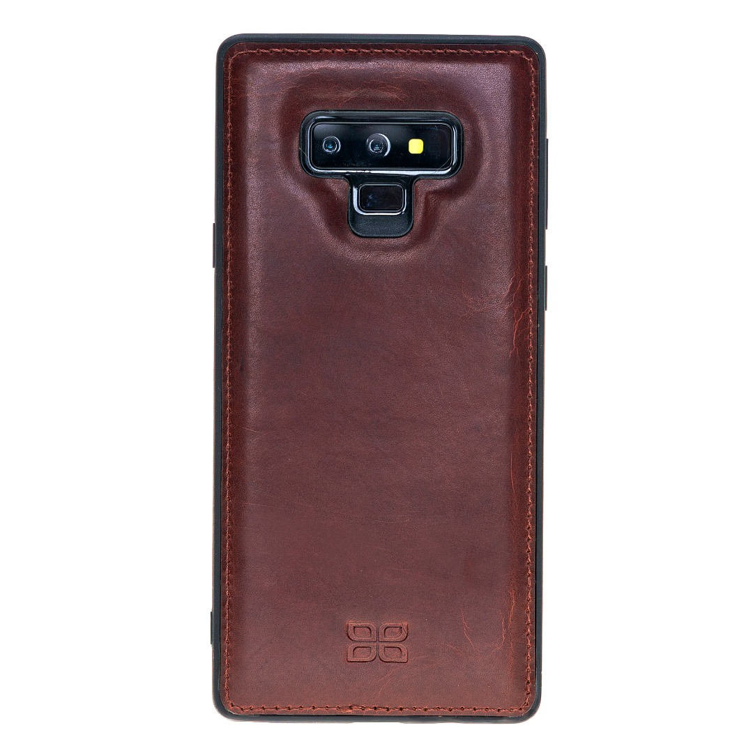 Husa slim piele naturala + rama TPU moale, back cover, Samsung Galaxy Note 9 - Bouletta, Bordeaux