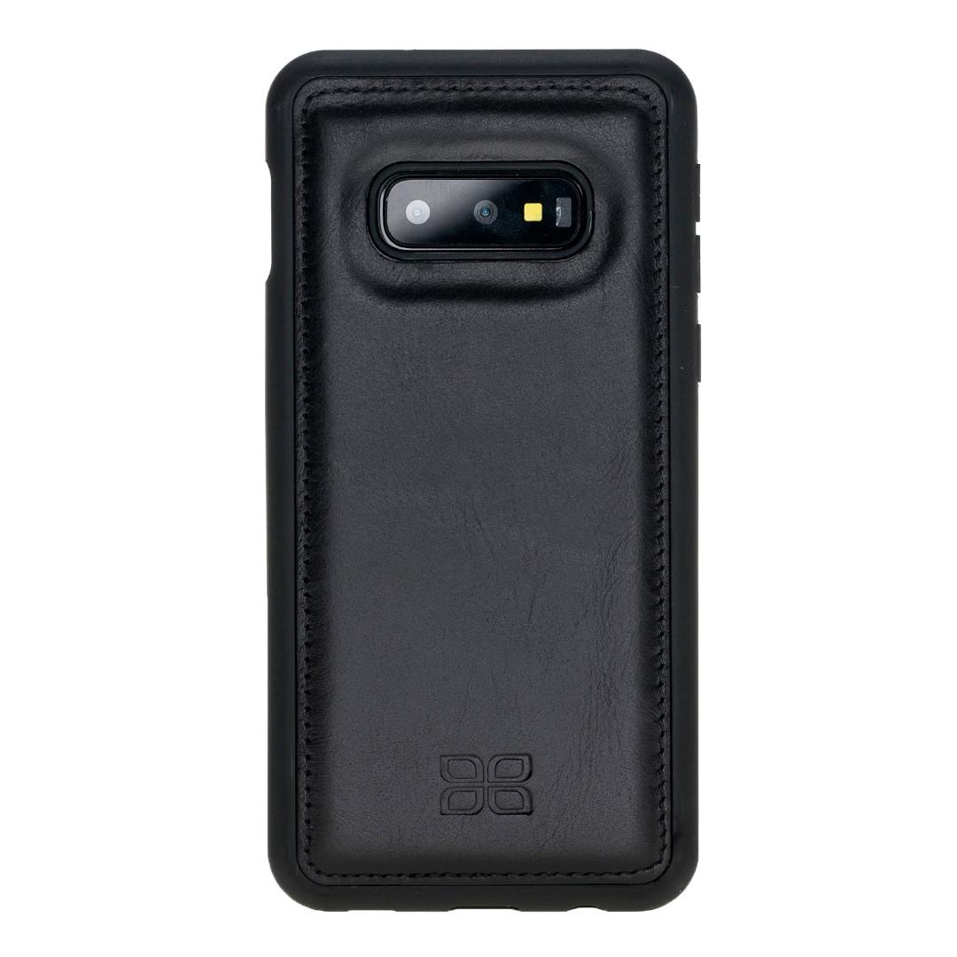 Husa slim piele naturala + rama TPU moale, back cover, Samsung Galaxy S10E - Bouletta, Rustic black