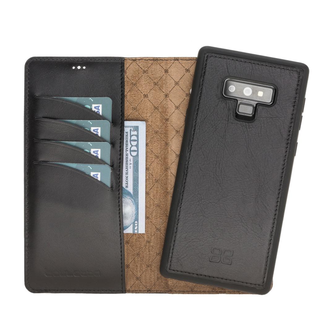 Husa piele naturala 2in1, portofel + back cover, Samsung Galaxy Note 9 - Bouletta Magic Wallet, Rustic black