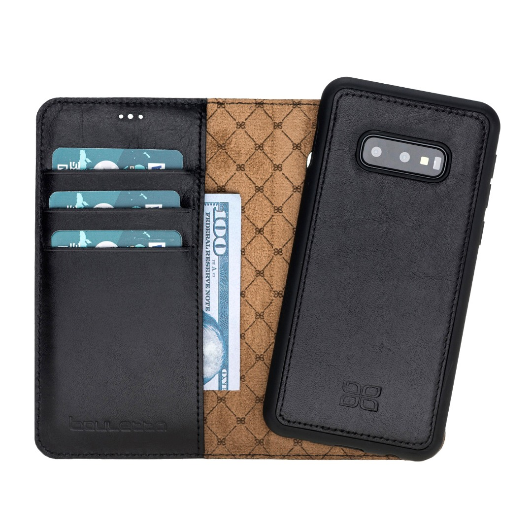 Husa piele naturala 2in1, portofel + back cover, Samsung Galaxy S10E - Bouletta Magic Wallet, Rustic black
