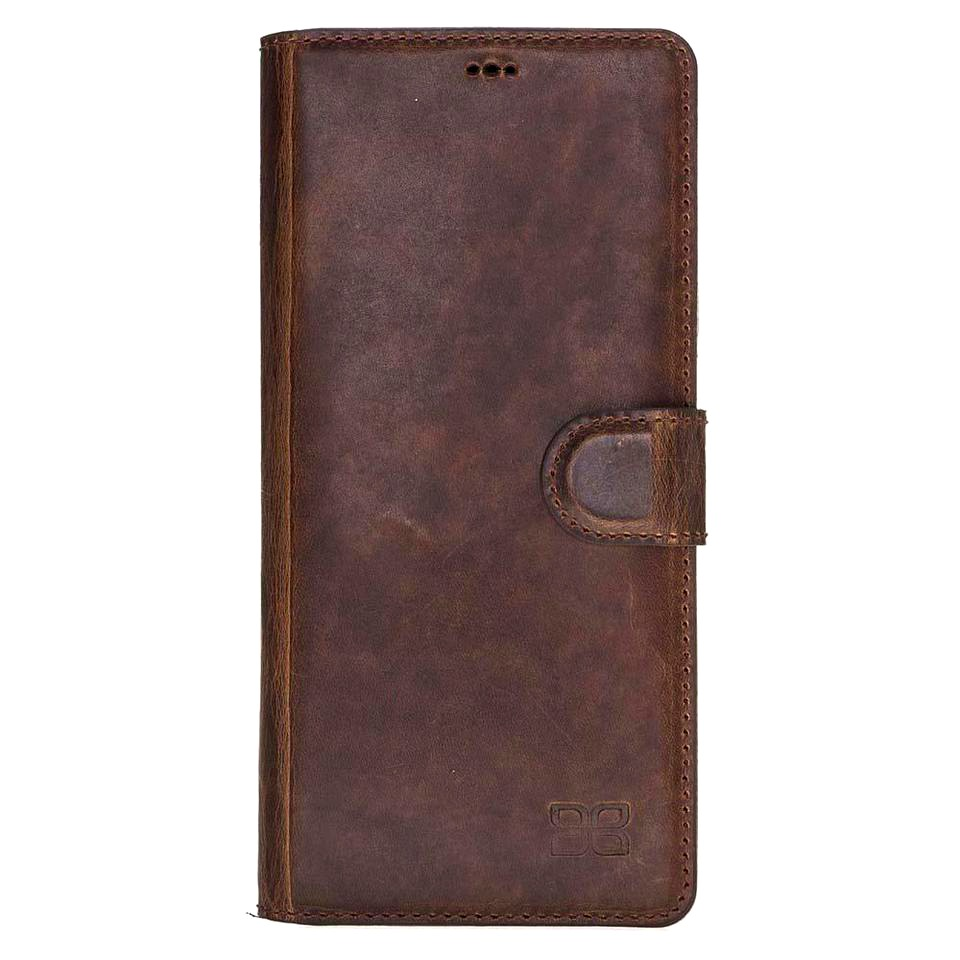 Husa piele naturala, tip portofel, stand, Samsung Galaxy Note 9 - Bouletta Wallet, Maro coffee