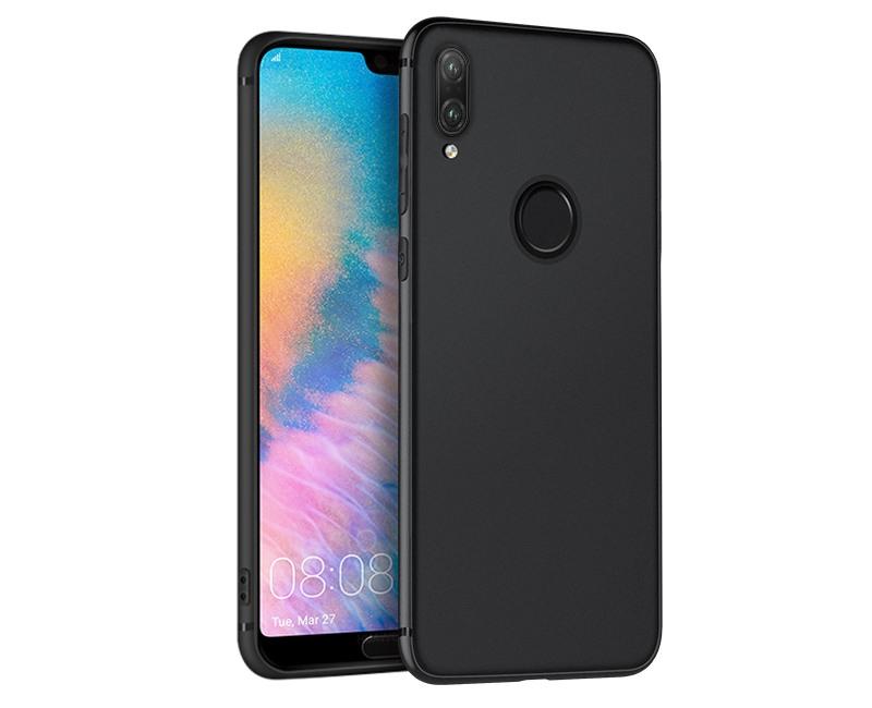 Husa slim mata, TPU moale si fin, tip back cover, Huawei P20 Lite - Hoco, Negru