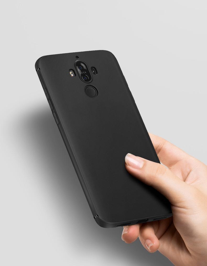 Husa slim mata, TPU moale si fin, tip back cover, Huawei Mate 10 Pro - Hoco, Negru