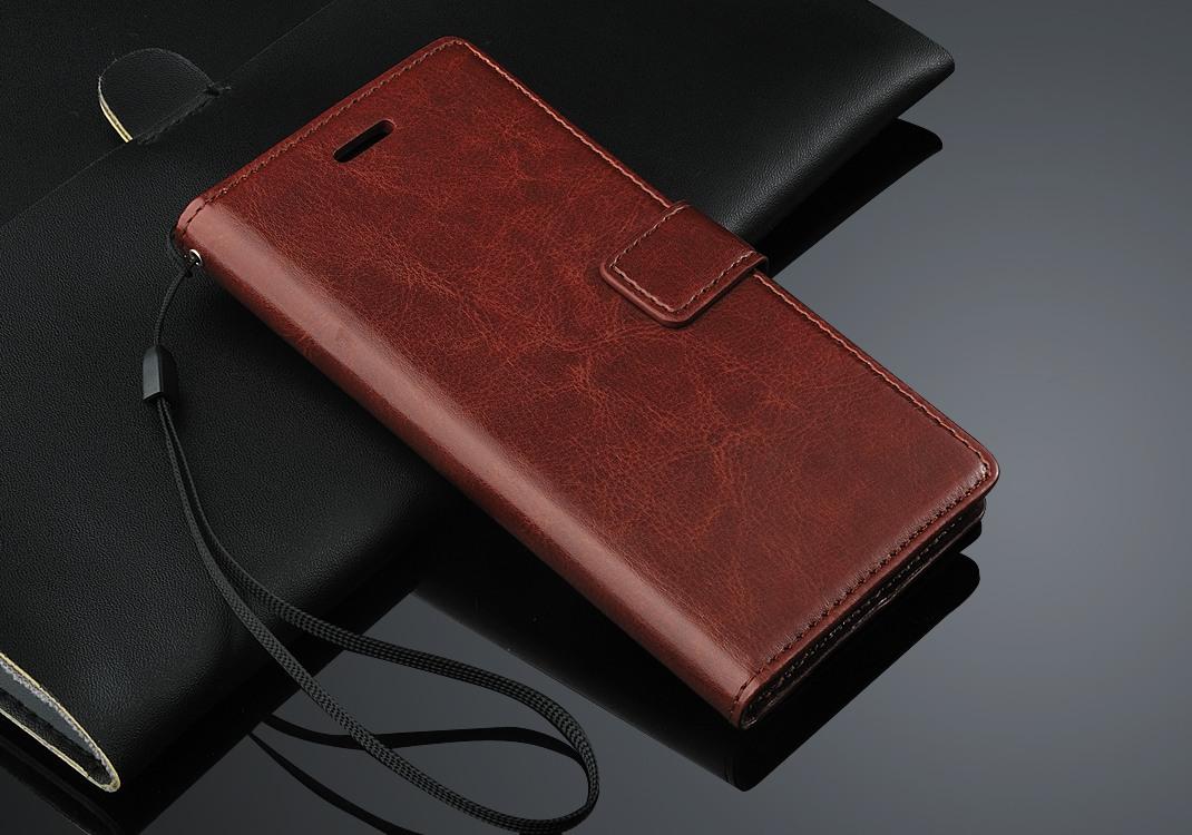 Husa piele fina, tip carte, functie stand, Huawei Ascend P8 Lite - CaseMe, Maro coniac