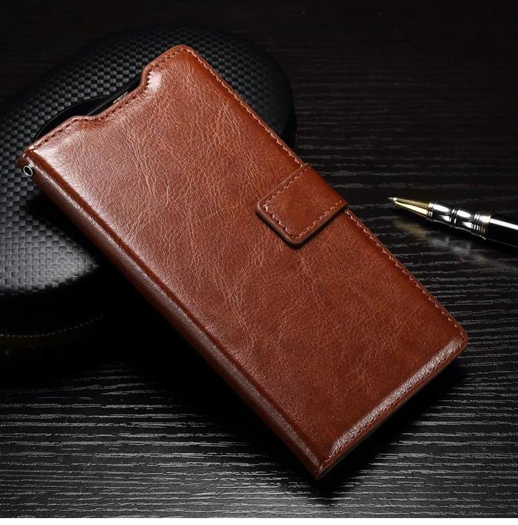 Husa piele fina, tip carte, functie stand, Huawei Ascend P9 Lite - CaseMe, Maro coniac