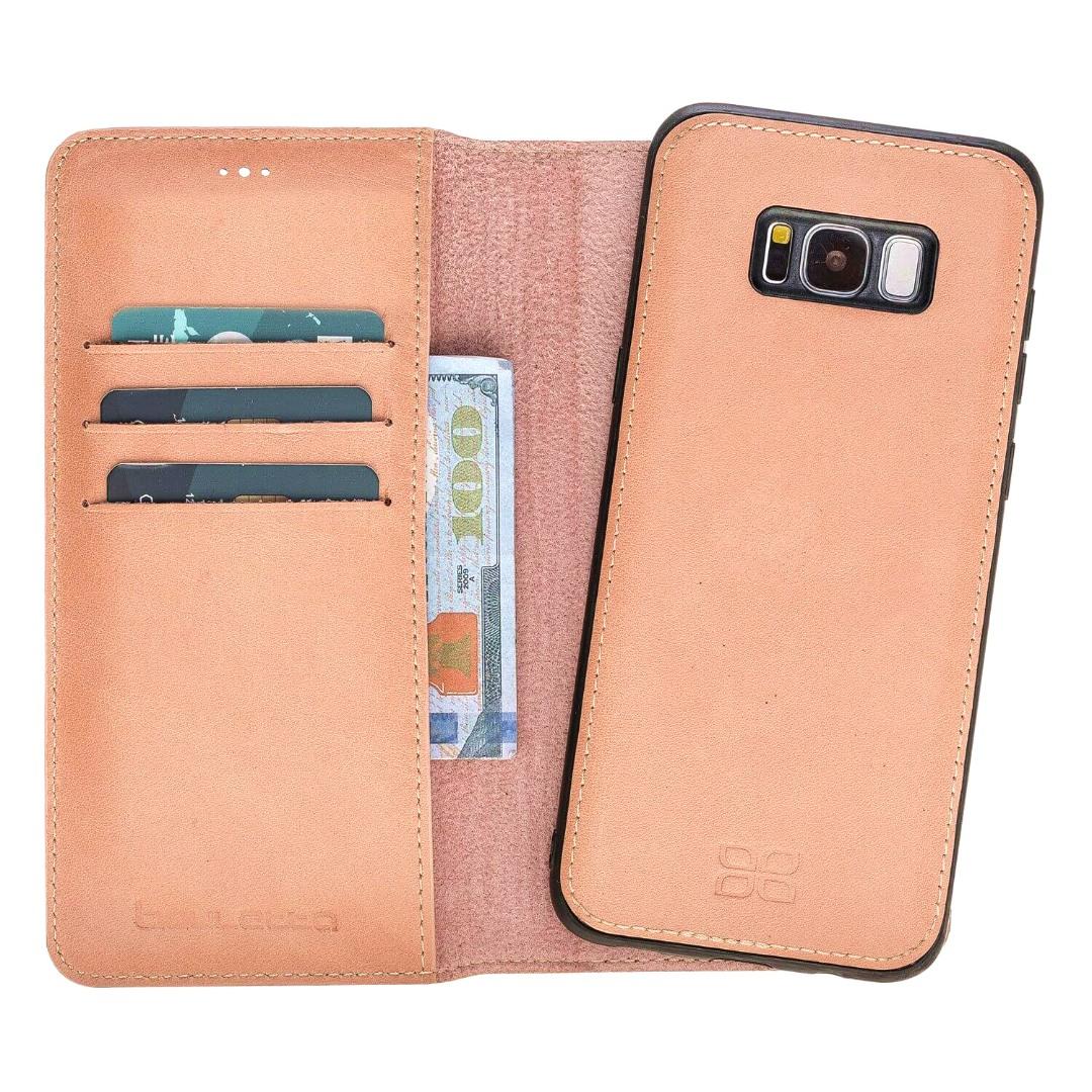 Husa piele naturala 2in1, portofel + back cover, Samsung Galaxy S8 Plus, Bouletta Magic Wallet, Senza Pink