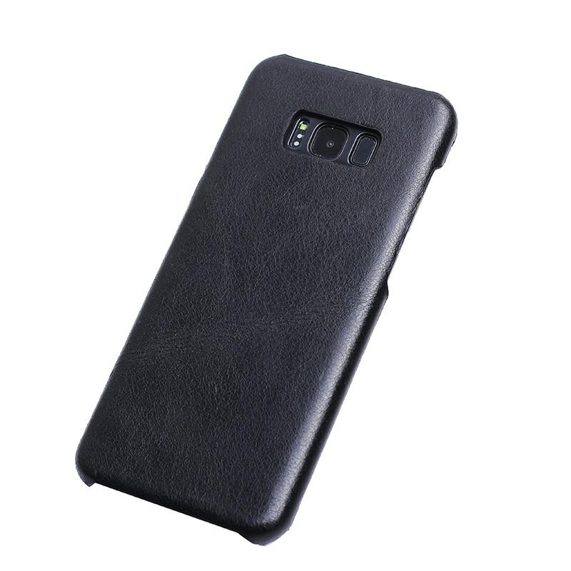 Husa slim din piele, tip back cover, textura vintage, Samsung Galaxy S8 Plus - CaseMe, Negru