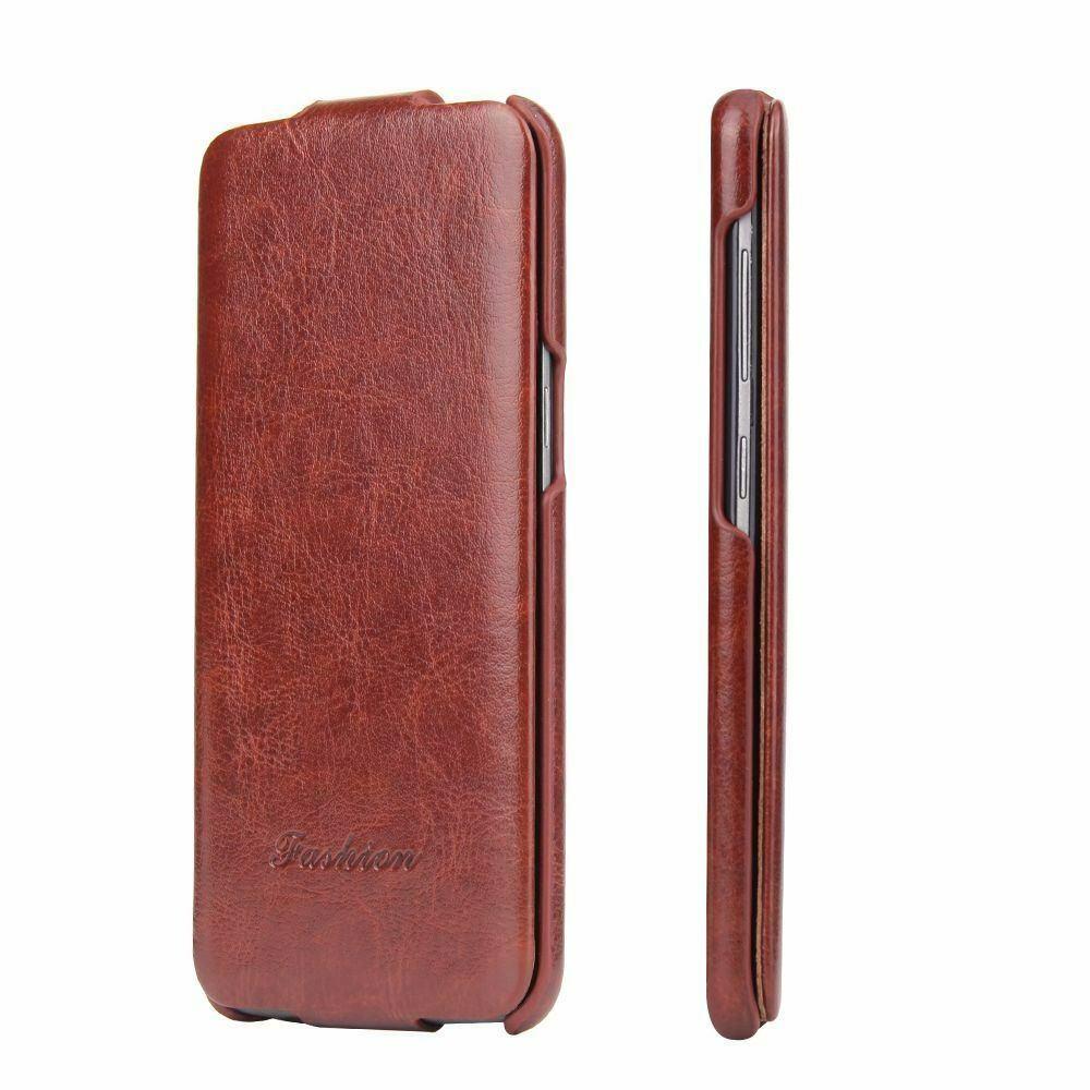 Husa piele fina, tip flip cover, Samsung Galaxy S8 - CaseMe, Maro coniac