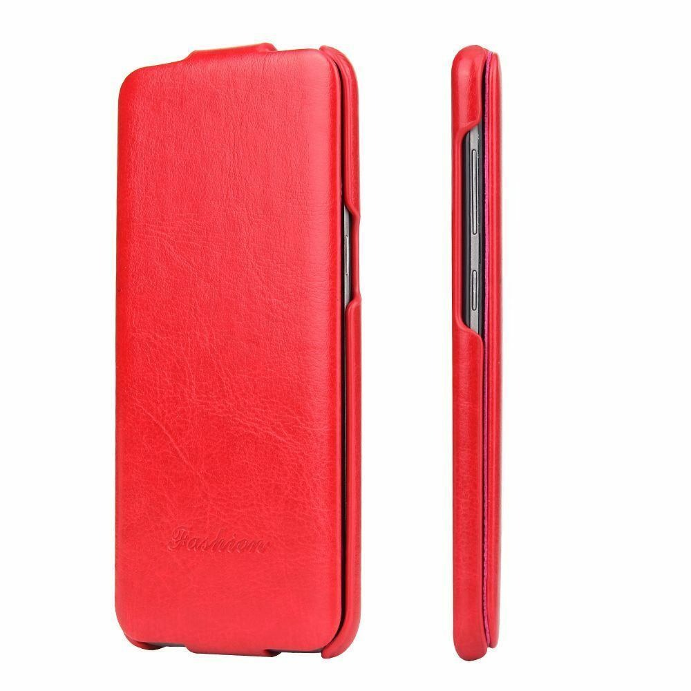 Husa piele fina, tip flip cover, Samsung Galaxy S8 - CaseMe, Rosu