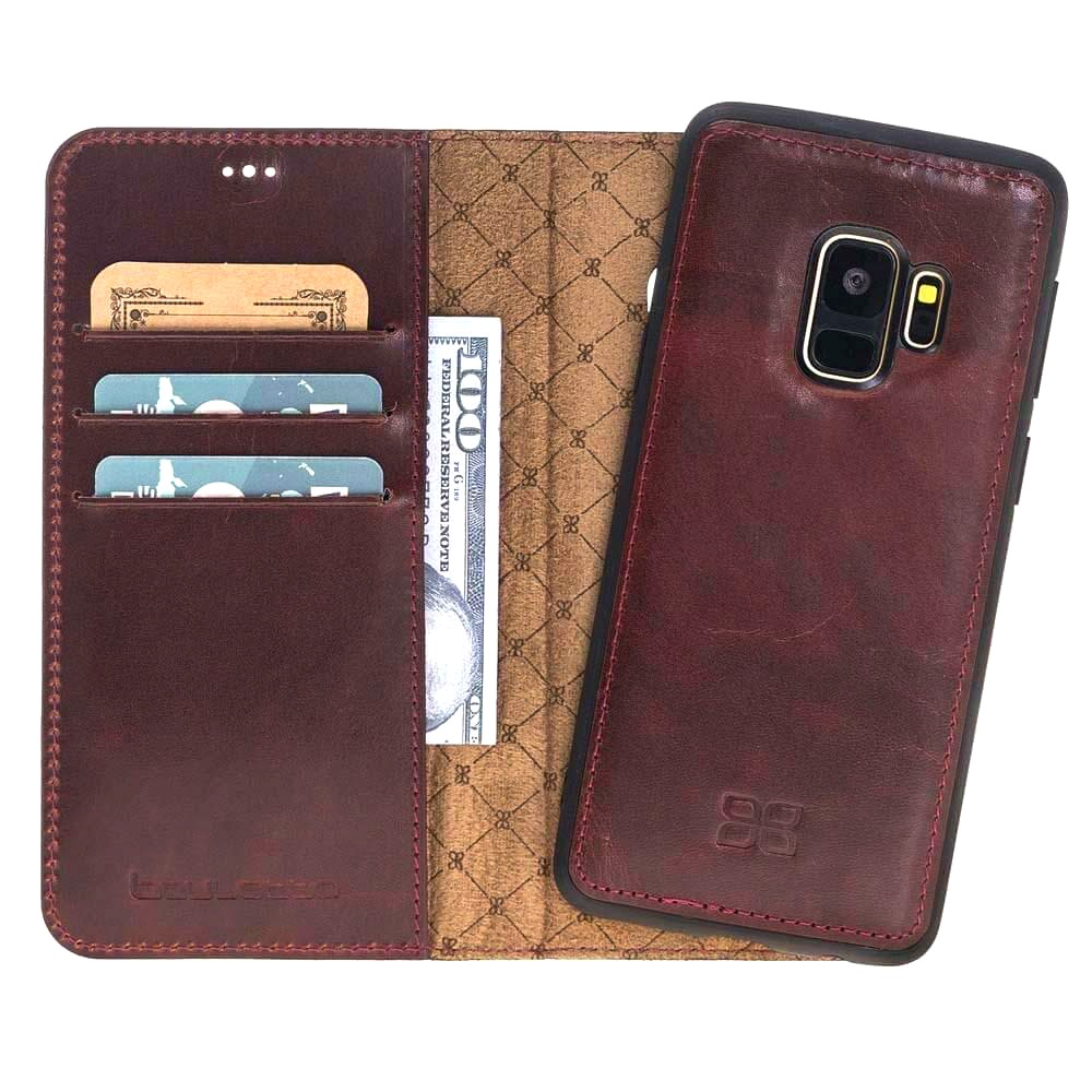 Husa piele naturala 2in1, portofel + back cover, Samsung Galaxy S9, Bouletta Magic Wallet, Bordeaux