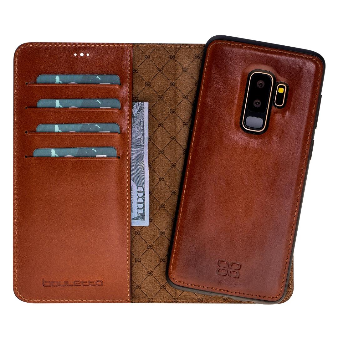 Husa piele naturala 2in1, portofel + back cover, Samsung Galaxy S9 Plus, Bouletta Magic Wallet, Burnished tan