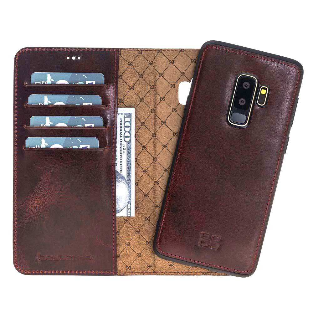 Husa piele naturala 2in1, portofel + back cover, Samsung Galaxy S9 Plus, Bouletta Magic Wallet, Bordeaux