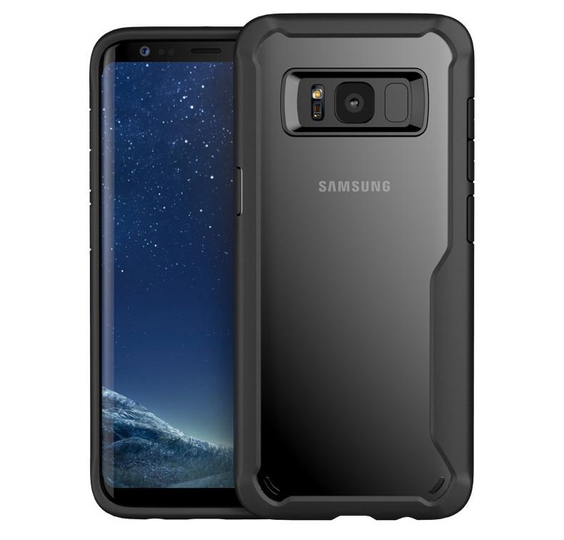 Husa din silicon + policarbonat transparent, protectie 360 grade, Samsung Galaxy S8 Plus - CaseMe Army, Negru
