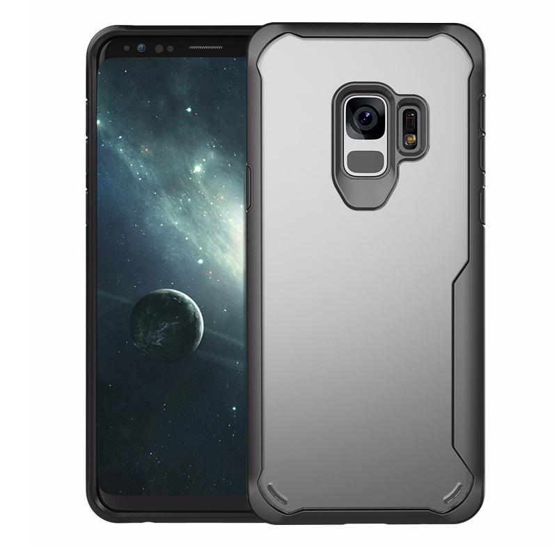 Husa din silicon + policarbonat transparent, protectie 360 grade, Samsung Galaxy S9 - CaseMe Army, Negru