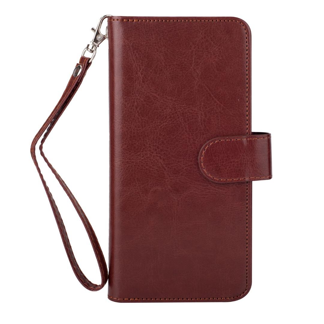 Husa 2in1 piele fina multifunctionala, portofel, back cover, Samsung Galaxy S9 Plus - CaseMe, Maro coniac
