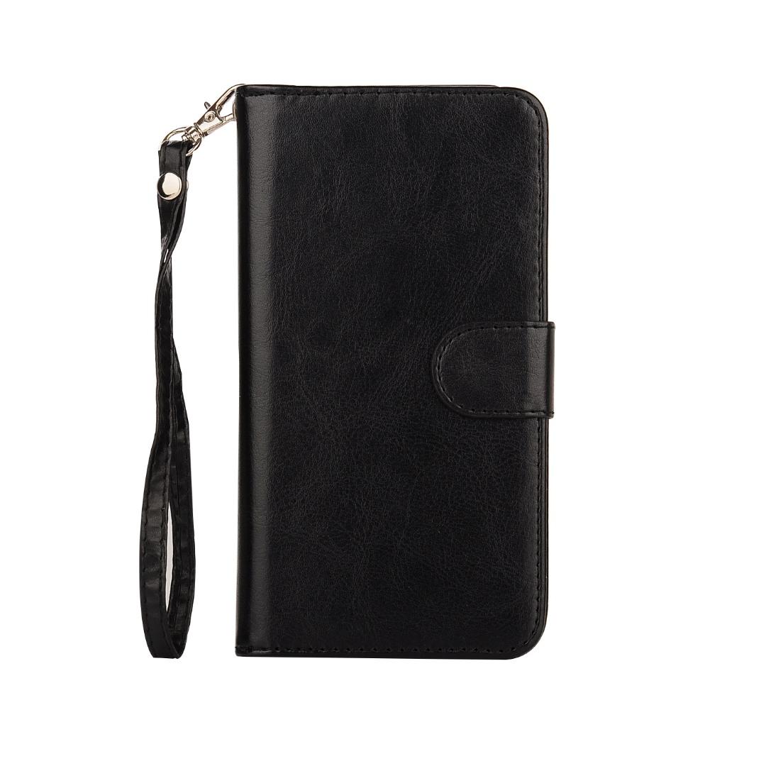 Husa 2in1 piele fina multifunctionala, portofel, back cover, Samsung Galaxy S7 Edge - CaseMe, Negru
