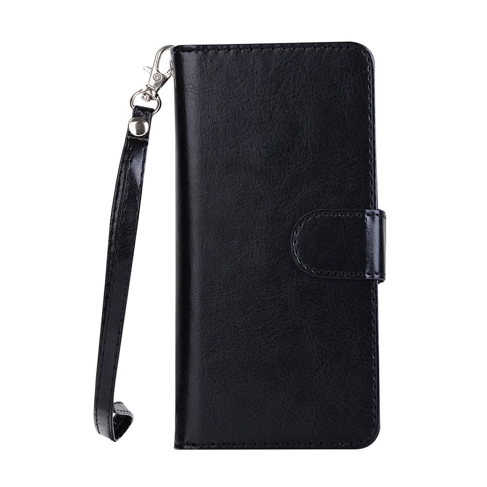 Husa 2in1 piele fina multifunctionala, portofel, back cover, Samsung Galaxy S8 - CaseMe, Negru