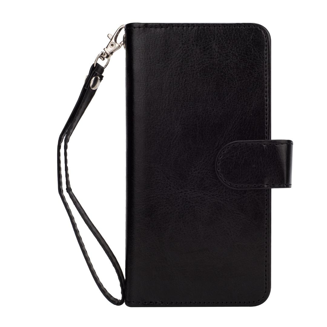 Husa 2in1 piele fina multifunctionala, portofel, back cover, Samsung Galaxy S9 - CaseMe, Negru