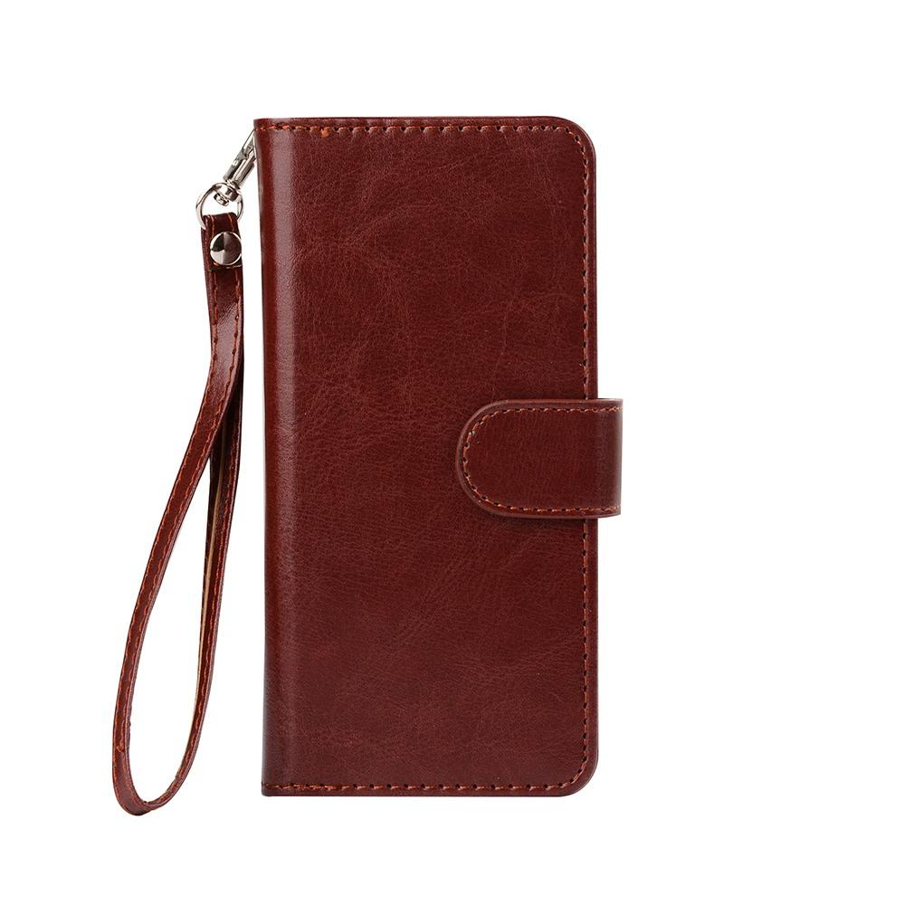 Husa 2in1 piele fina multifunctionala, portofel, back cover, Samsung Galaxy S8 Plus - CaseMe, Maro coniac