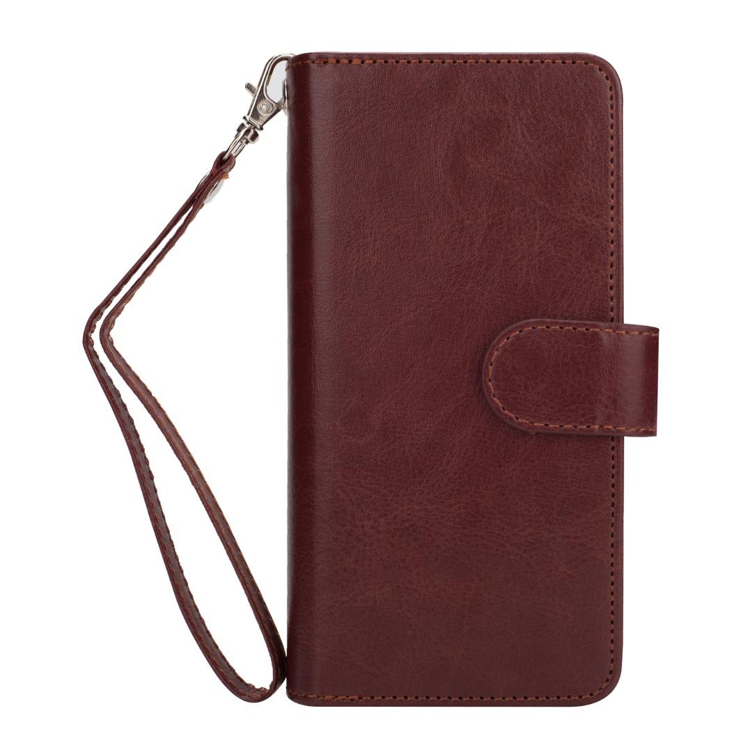 Husa 2in1 piele fina multifunctionala, portofel, back cover, Samsung Galaxy S9 - CaseMe, Maro coniac