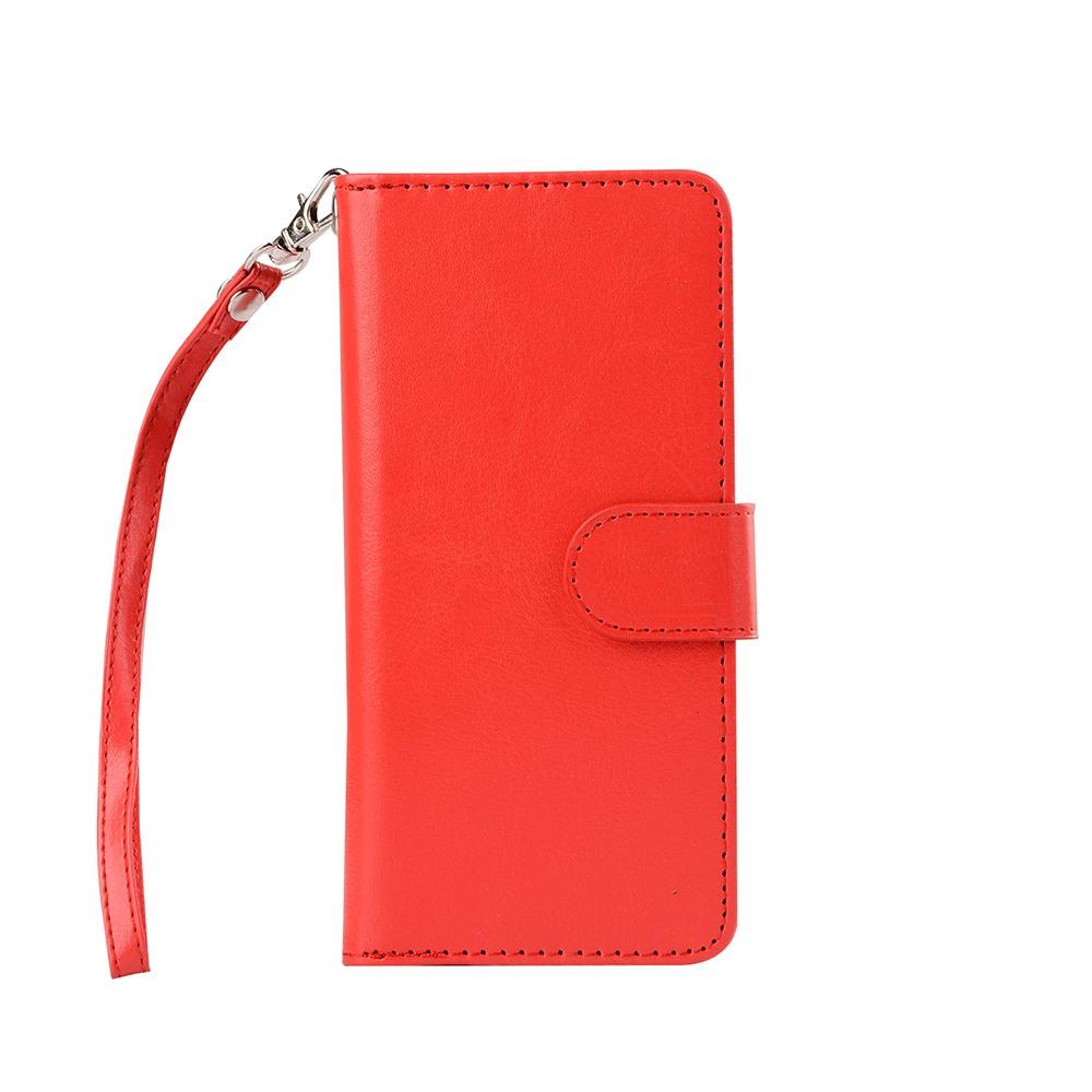 Husa 2in1 piele fina multifunctionala, portofel, back cover, Samsung Galaxy S8 - CaseMe, Rosu