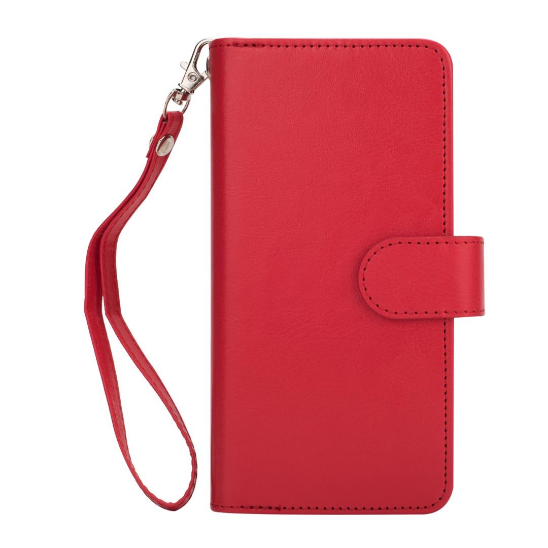 Husa 2in1 piele fina multifunctionala, portofel, back cover, Samsung Galaxy S9 - CaseMe, Rosu