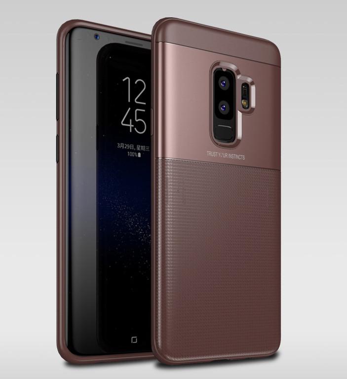 Husa protectie inalta 360 grade, TPU moale + PC, Samsung Galaxy S9 Plus - Jison Case, Maro
