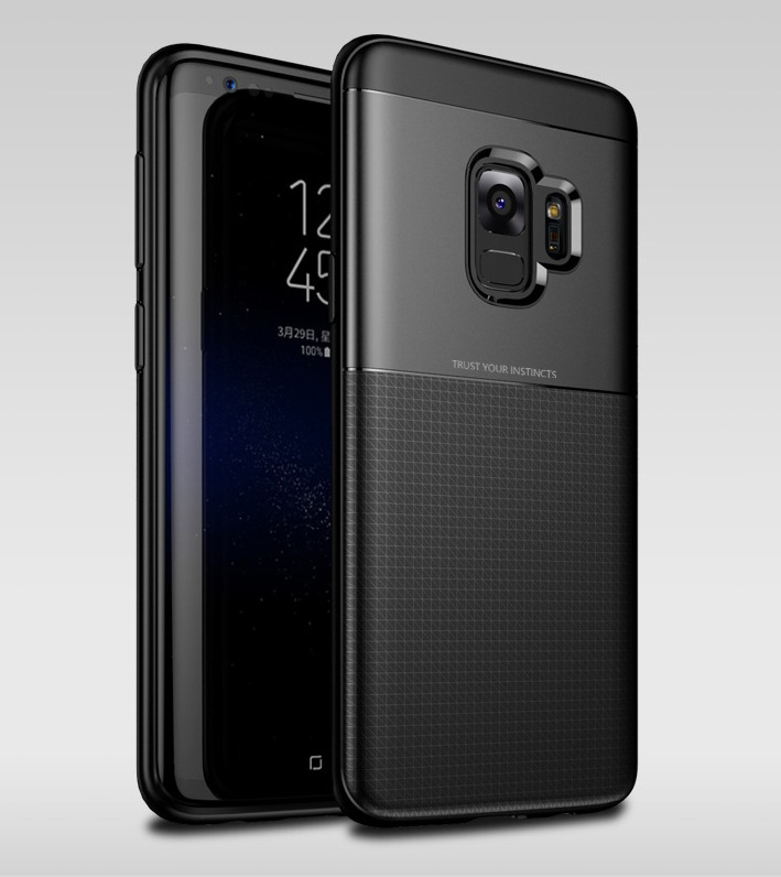 Husa protectie inalta 360 grade, TPU moale + PC, Samsung Galaxy S9 - Jison Case, Negru