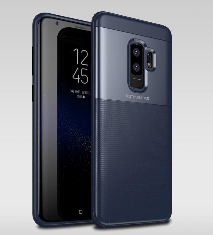 Husa protectie inalta 360 grade, TPU moale + PC, Samsung Galaxy S9 Plus - Jison Case, Albastru