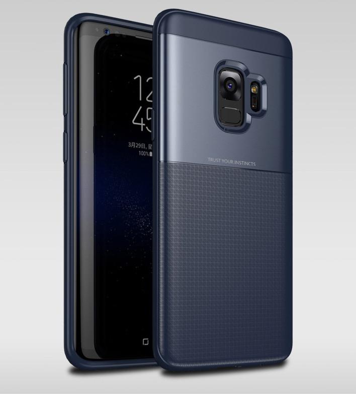 Husa protectie inalta 360 grade, TPU moale + PC, Samsung Galaxy S9 - Jison Case, Albastru