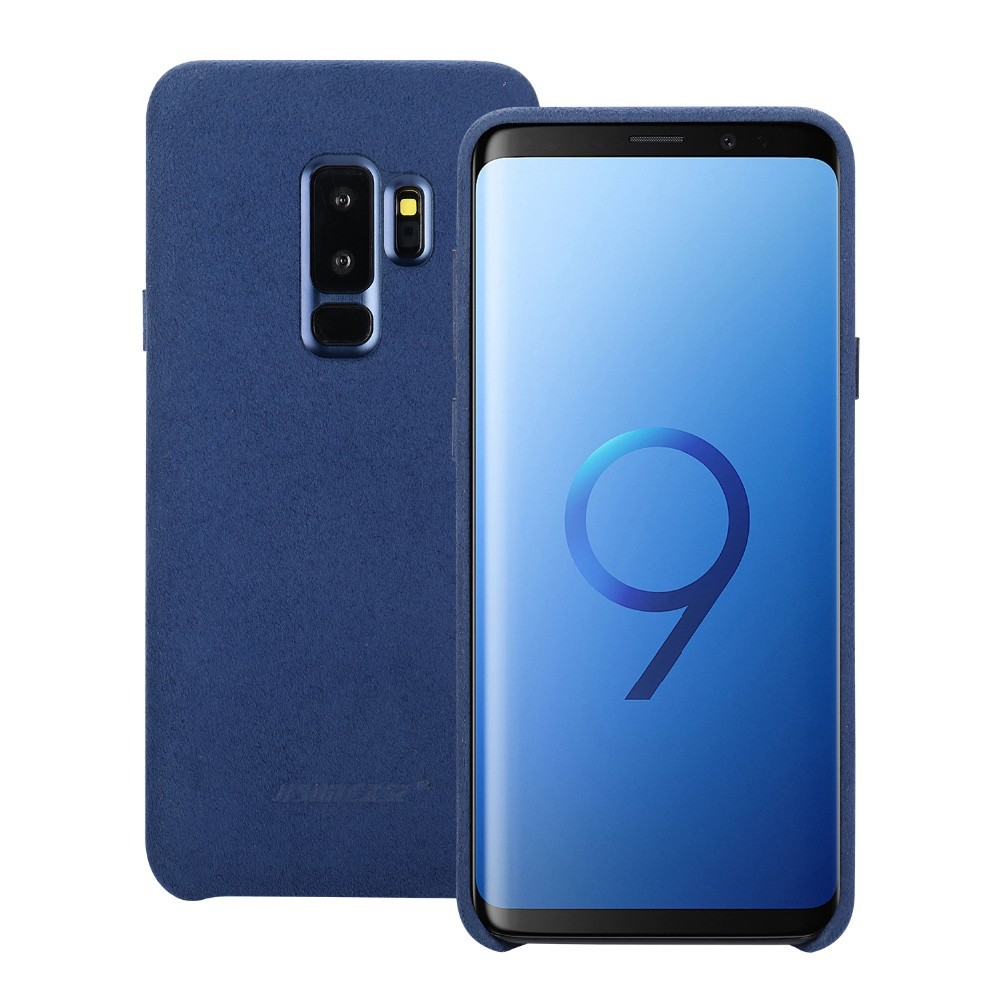 Husa piele microfibra moale, tip back cover, Samsung Galaxy S9 Plus - Jison Case, Albastru