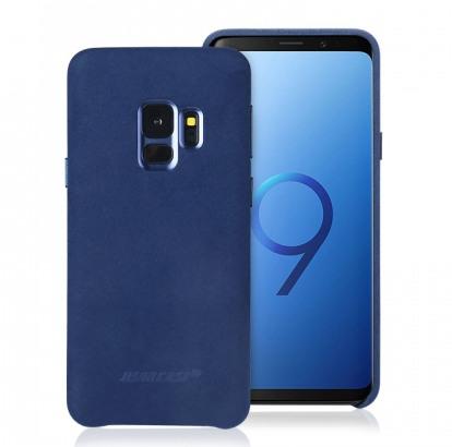 Husa piele microfibra moale, tip back cover, Samsung Galaxy S9 - Jison Case, Albastru