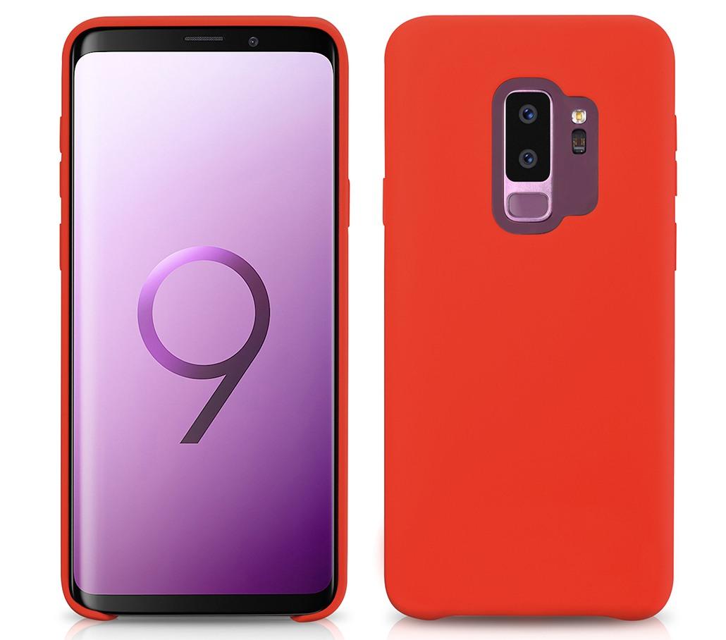 Husa din silicon cu textura fina si mata, aderenta crescuta, Samsung Galaxy S9 Plus - Xoomz by iCarer Original Silicone, Rosu