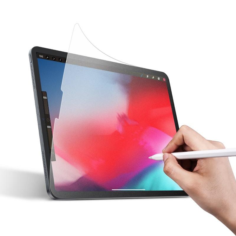 Folie protectie PET, textura fina ca de hartie, compatibil cu pencil, ideal pentru desenat, iPad Pro 12.9 (2018)