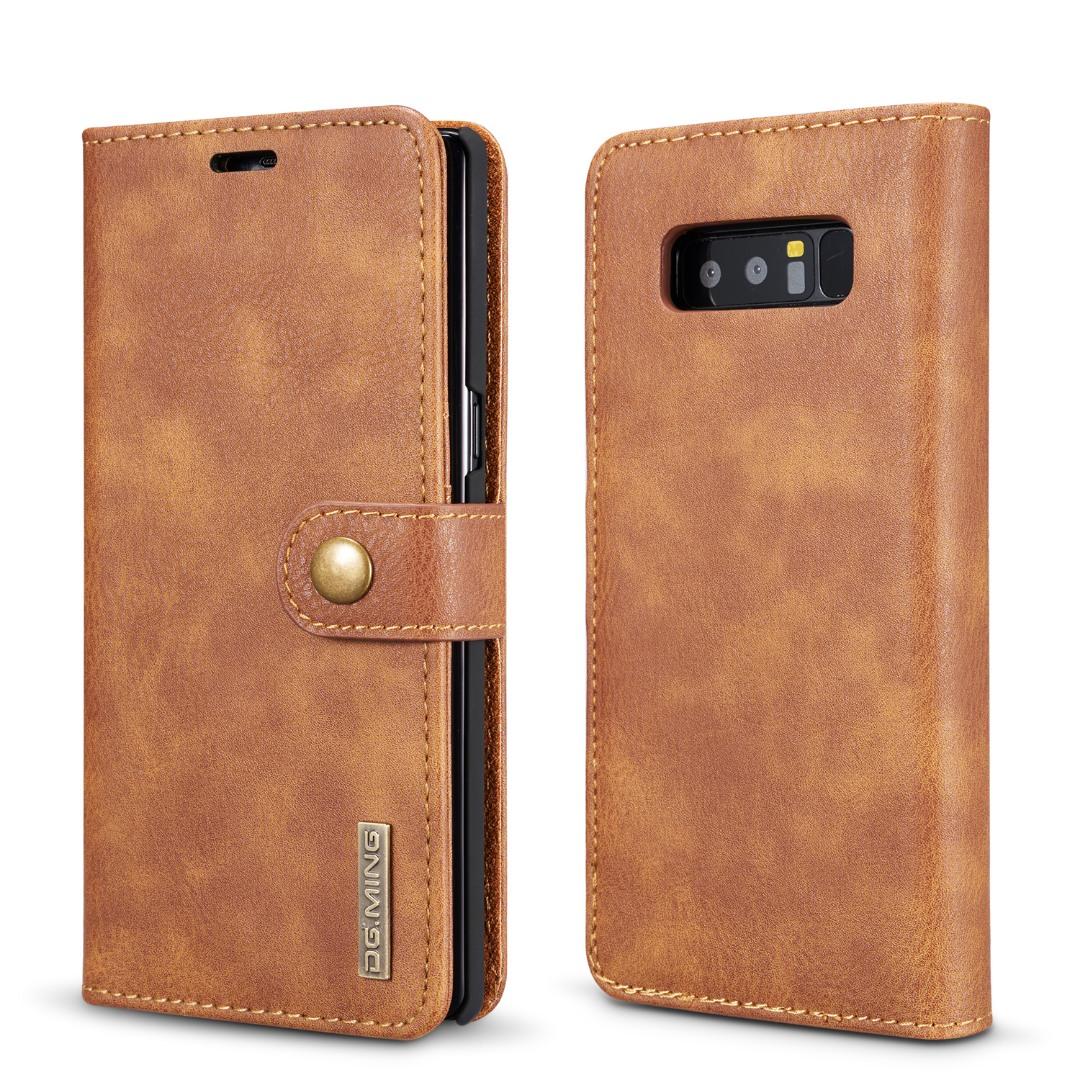 Husa piele, 2 in 1, protectie superioara, inchidere magnetica, tip portofel, back cover, stand, Samsung Galaxy Note 8 - CaseMe, Maro