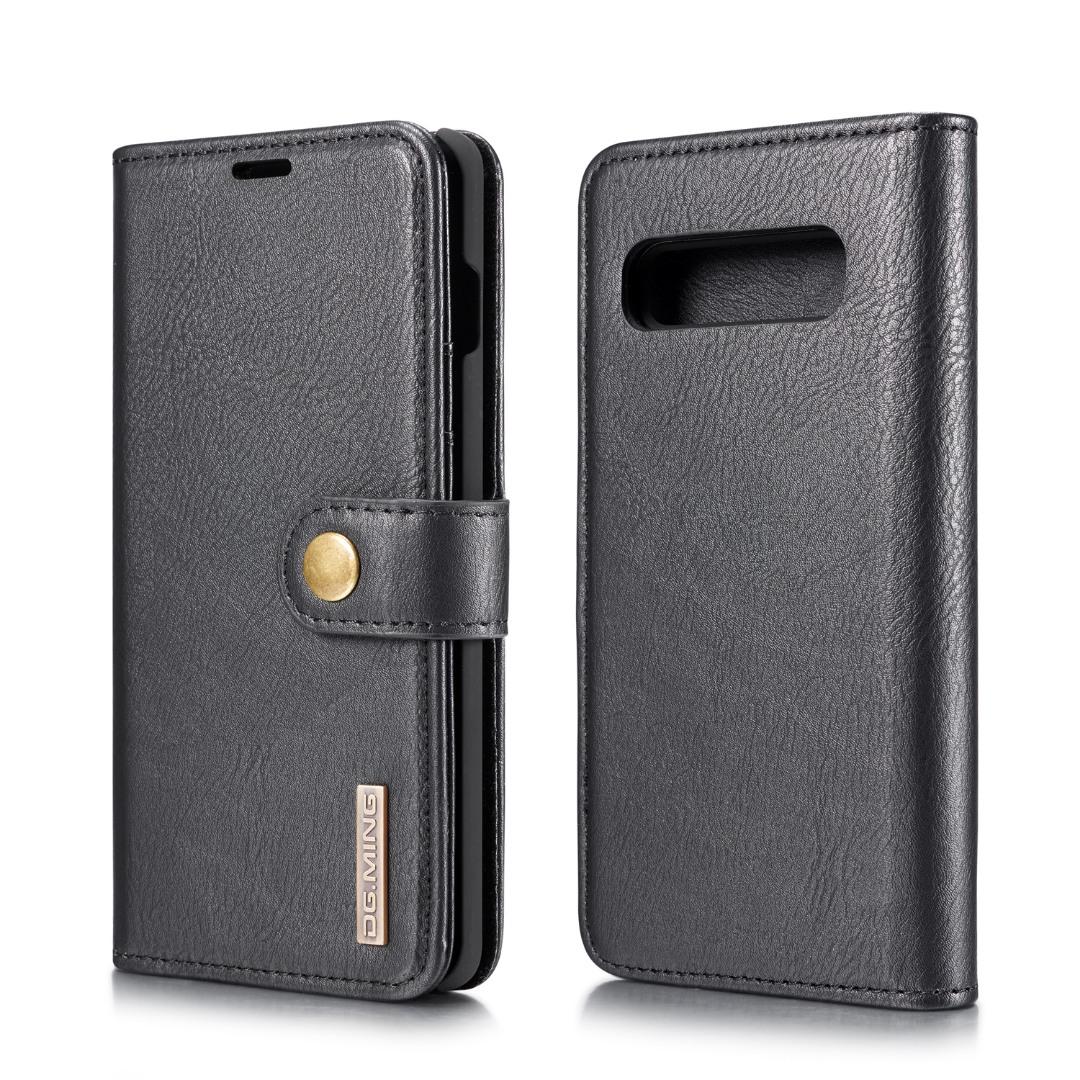 Husa piele, 2 in 1, protectie superioara, inchidere magnetica, tip portofel, back cover, stand, Samsung Galaxy S10 Plus - CaseMe, Negru