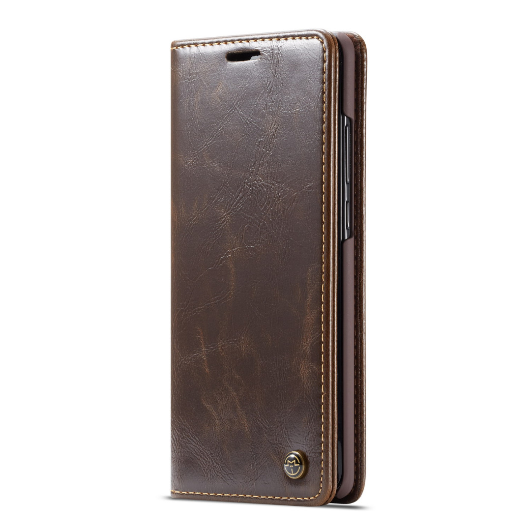 Husa piele fina, tip portofel, stand, inchidere magnetica, Huawei P30 - CaseMe, Maro coffee