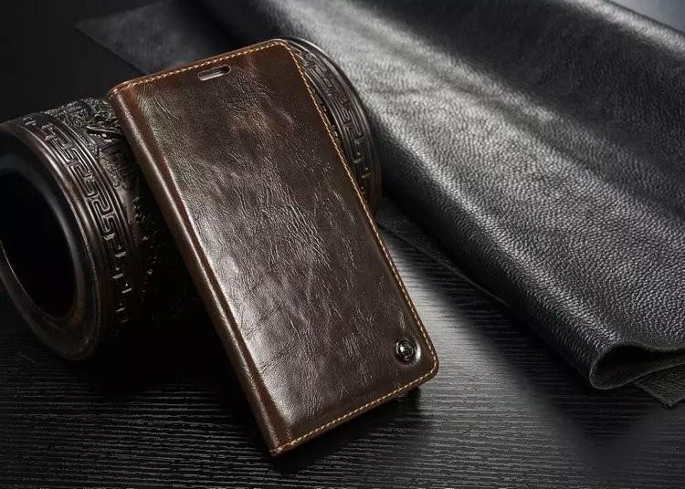 Husa piele fina, tip portofel, stand, inchidere magnetica, Samsung Galaxy Note 5 / Note 5 Duos, CaseMe, Maro coffee