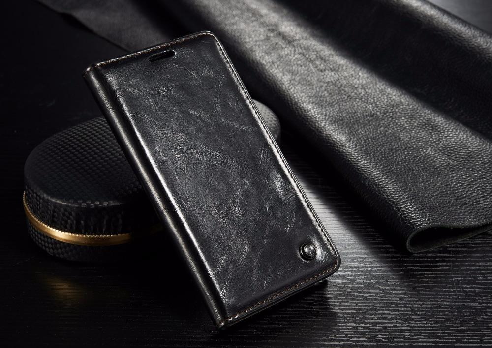 Husa piele fina, tip portofel, stand, inchidere magnetica, Samsung Galaxy Note 5 / Note 5 Duos, CaseMe, Negru