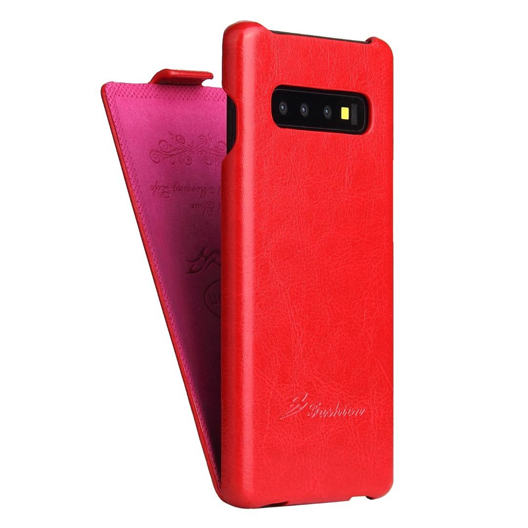 Husa piele fina, tip flip cover, Samsung Galaxy S10 - CaseMe, Rosu