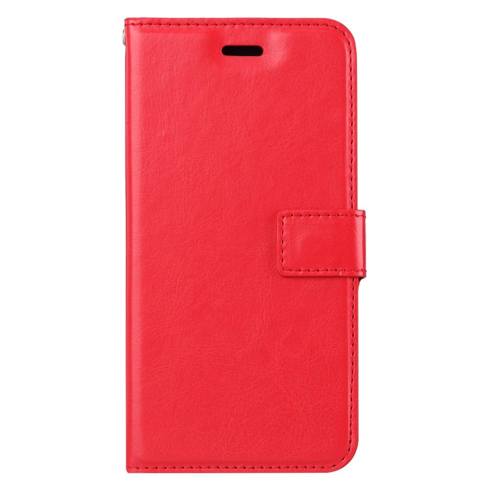 Husa piele fina, tip portofel, inchidere magnetica, stand, suport silicon, iPhone SE 2 (2020), iPhone 8, iPhone 7 - CaseMe, Rosu
