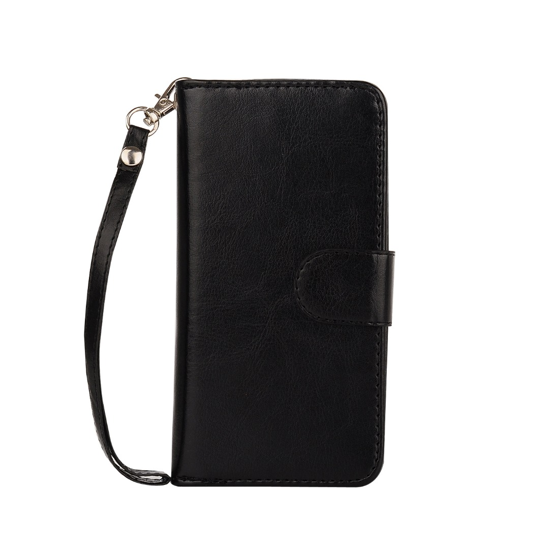 Husa 2in1 piele fina multifunctionala, portofel, back cover, iPhone 6 / 6s - CaseMe, Negru