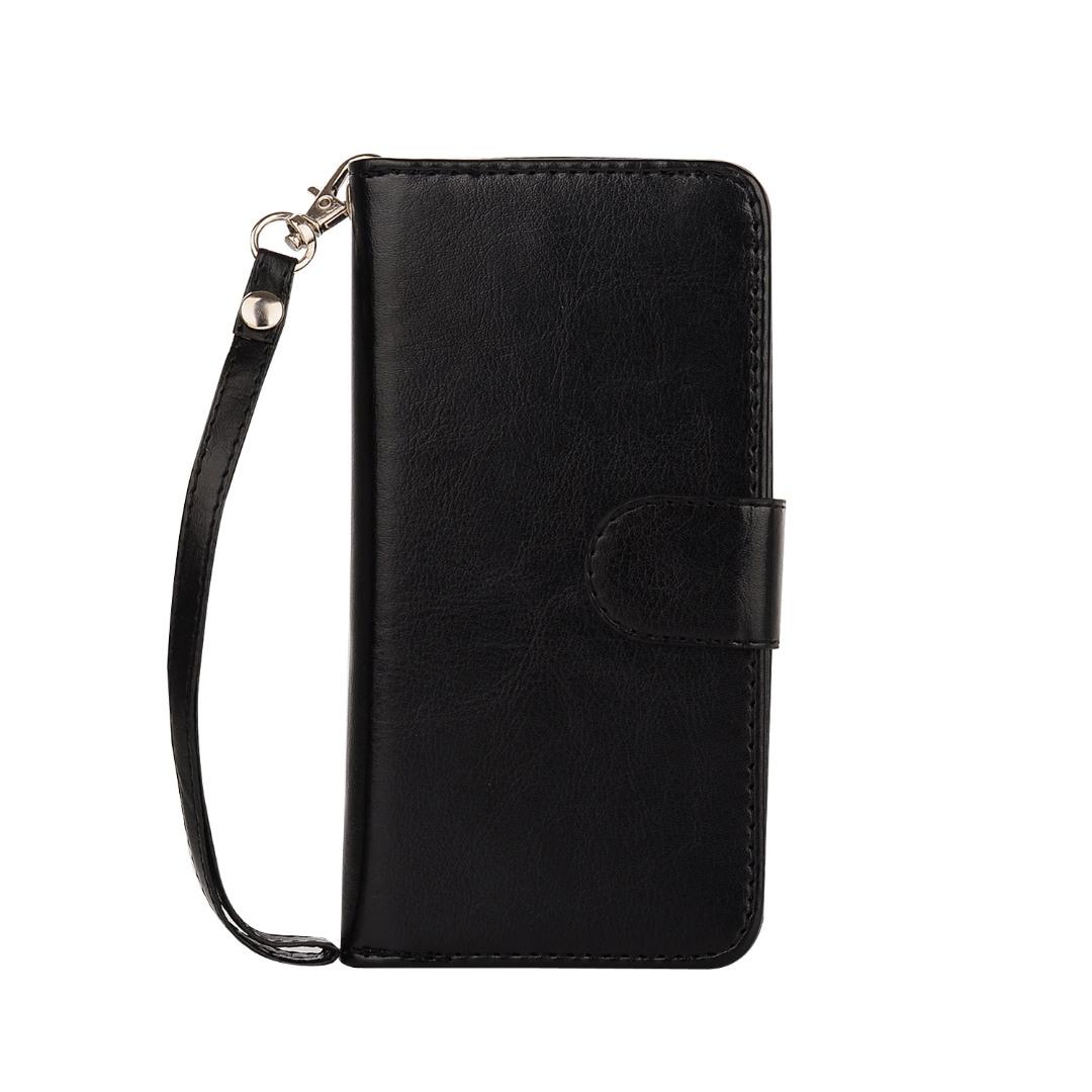Husa 2in1 piele fina multifunctionala, portofel, back cover, iPhone 8 / iPhone 7 - CaseMe, Negru