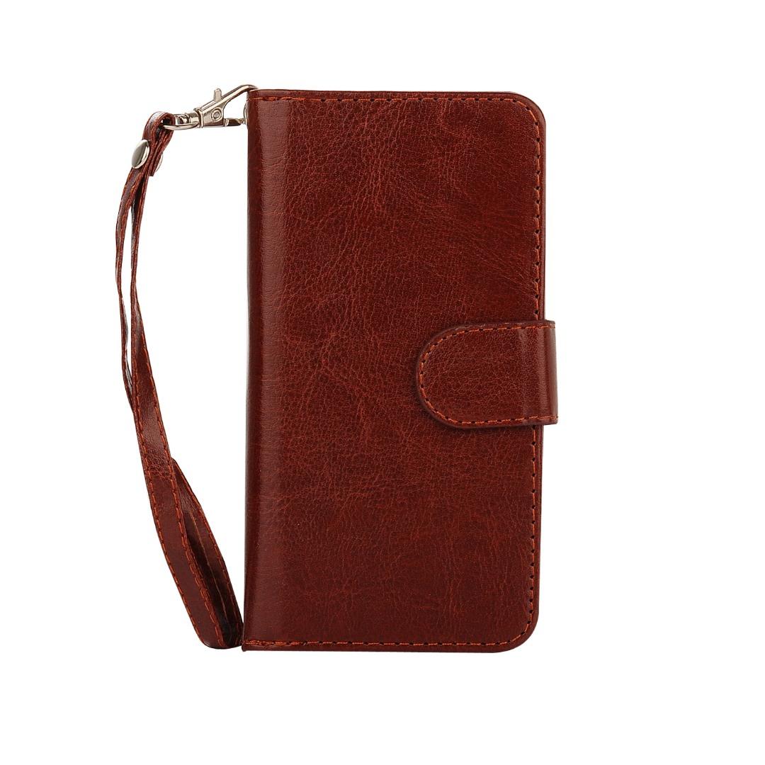 Husa 2in1 piele fina multifunctionala, portofel, back cover, iPhone 8 / iPhone 7 - CaseMe, Maro coniac