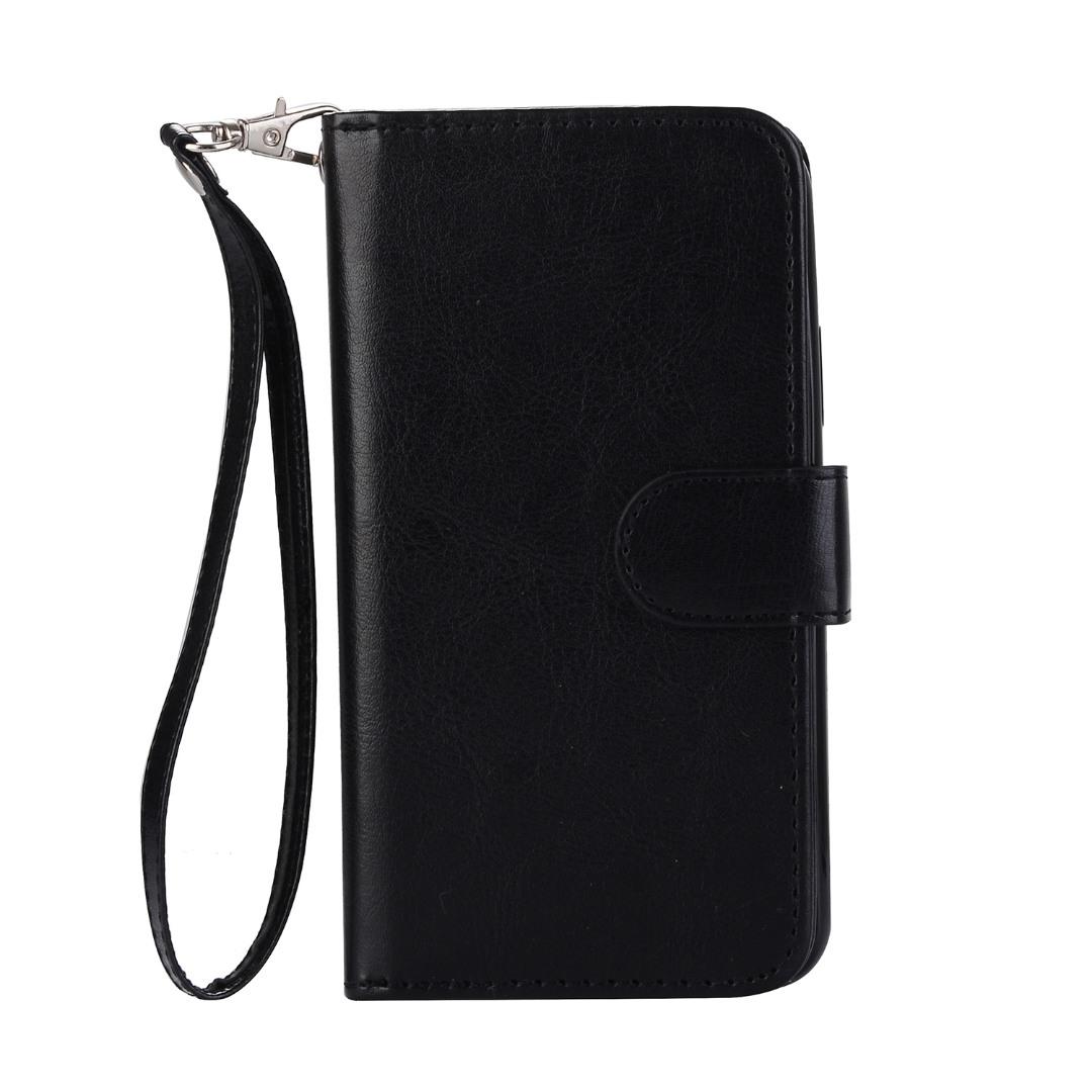Husa 2in1 piele fina multifunctionala, portofel, back cover, iPhone X / XS - CaseMe, Negru