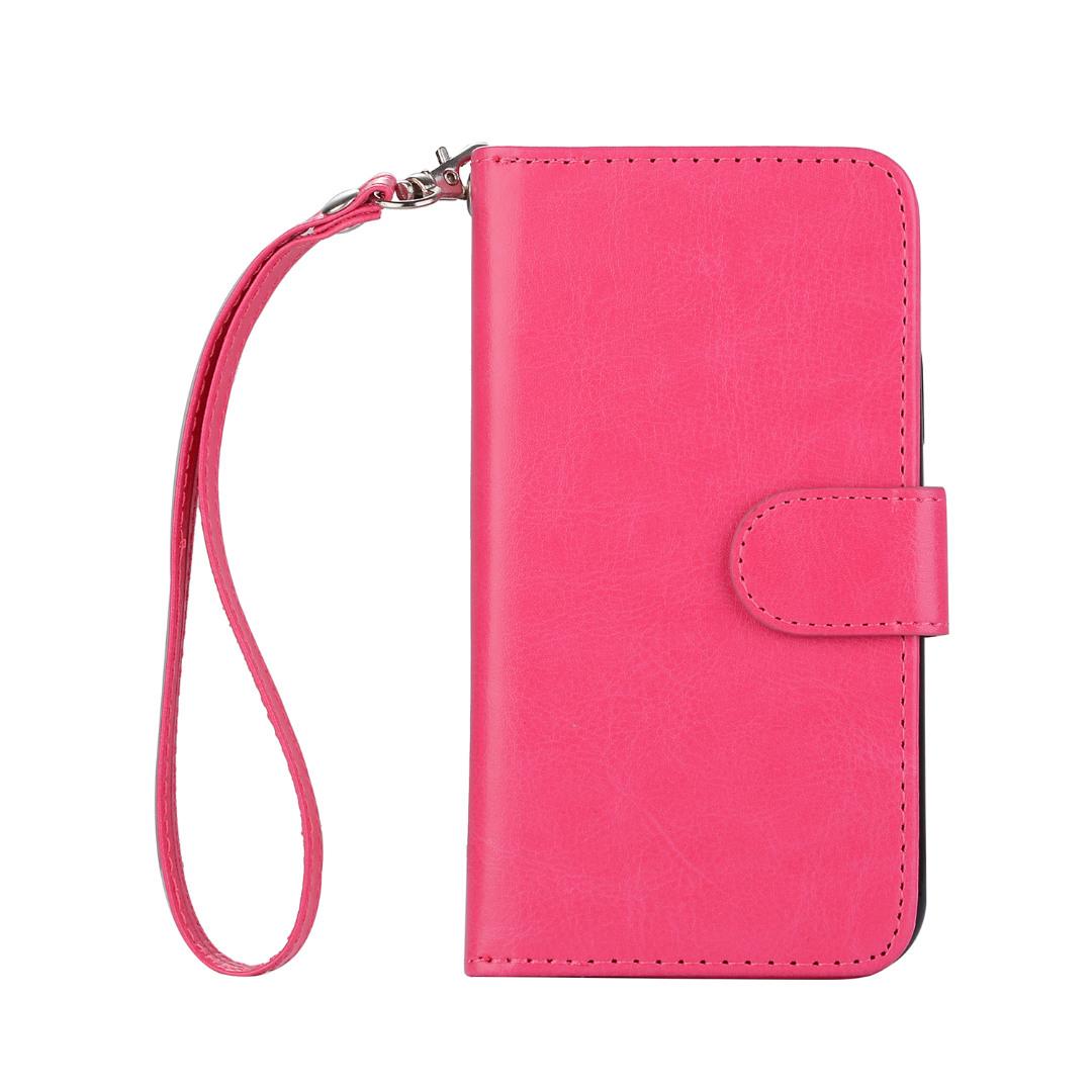 Husa 2in1 piele fina multifunctionala, portofel, back cover, iPhone XR - CaseMe, Roz