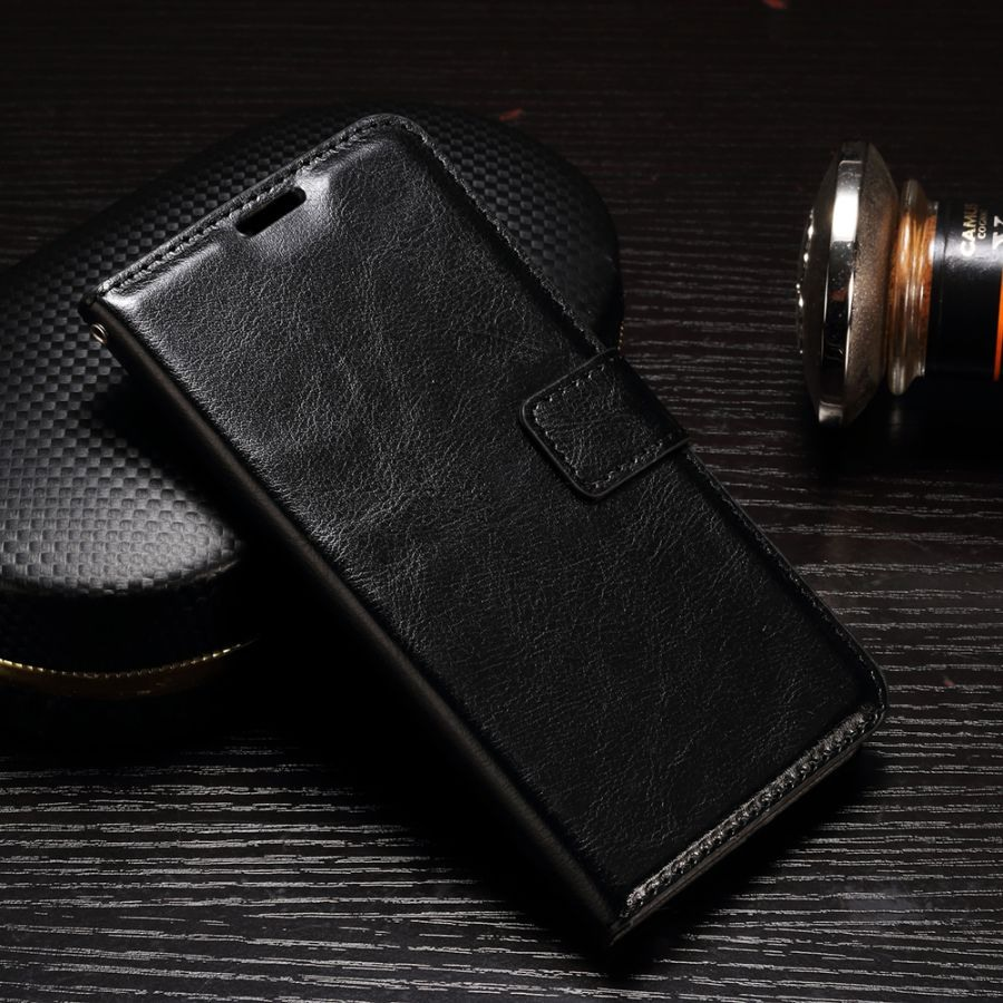 Husa piele fina, tip carte, functie stand - Samsung Galaxy A7 (2017), Negru